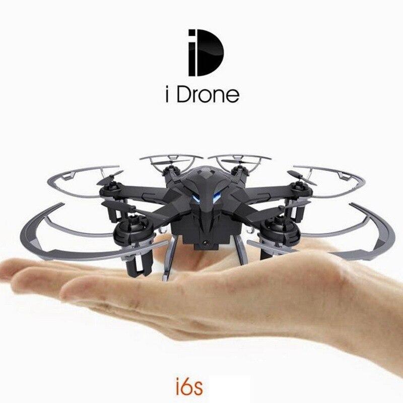 Mini Drones Avec Caméra HD 2mp I6s Sans Tête Planant 2.4G 4CH 6 axe Rc Hélicoptère Caméra Nano Dron Vs Hubsan 107c Copter