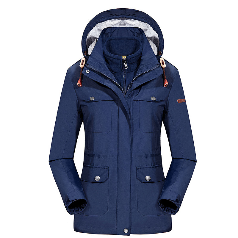 Hot 2in1 Winter Waterproof Outdoor Long Jacket Women Windstopper Snowboard Fishing Hiking Coat Ski Camping Warm Casaco Feminino hot sale windstopper water resistant coat 2in1 hiking winter jacket women outdoor veste breathable camping chaquetas mujer