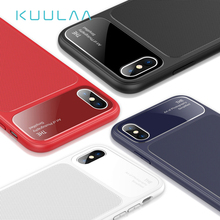 KUULAA For iPhone XS Max Case Luxury Silicone Glass Phone iPone XSMax Slim Shockproof Back Soft Cover X XR
