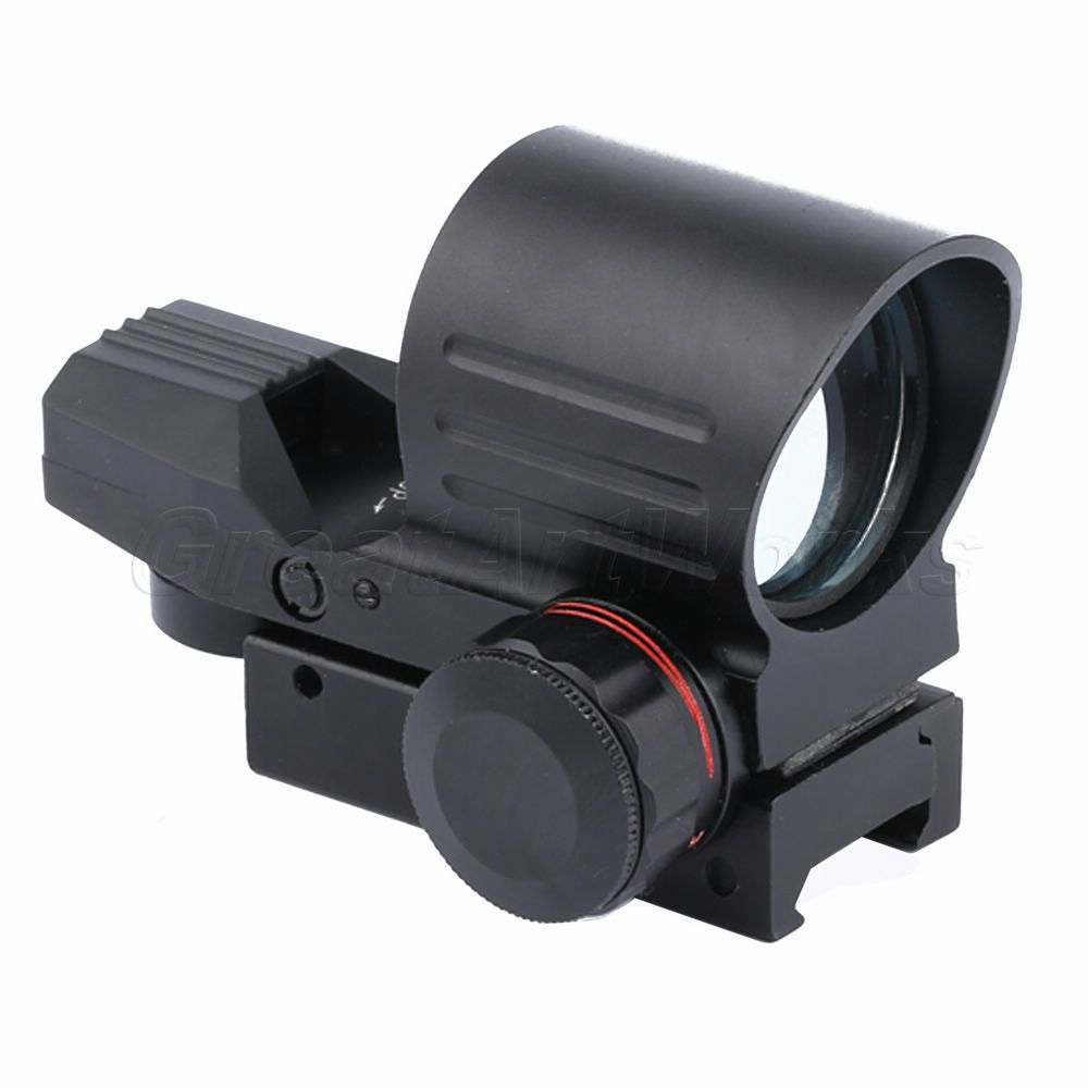Good Quality Holographic Reflex 4 Reticles Red Green Dot Sight Scope with21mm Rail Mount For Hunting