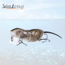 Купить с кэшбэком 6.3cm Mini Artificial Rat Fishing Lures Crank Bait RAT4-M 10.3g Realistic Swimbaits Lifelike Mouse Fishing Lure Wobblers Tackle