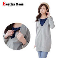 Emotion Moms Winter Maternity clothes Nursing Top BreastFeeding tops pregnancy Clothes For Pregnant Women Maternity Sweater