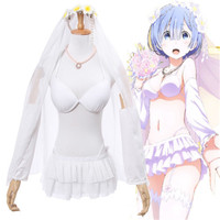 Takerlama New Anime Re Zero Starting Life In Another World Ram Rem Cosplay Costume Wedding Fancy