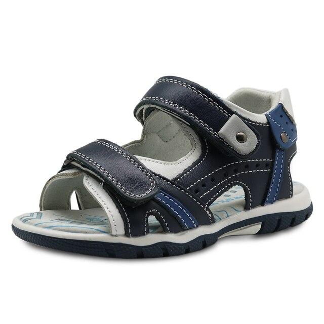 Apakowa קיץ בני סנדלים חדש 2018 אמיתי עור פעוט ילדים נעליים אורתופדיות עבור בני שטוח ילדים של נעלי Eur 26 -31