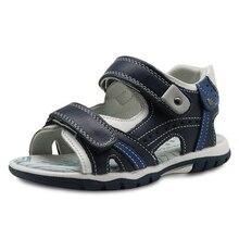 Apakowa letnie chłopięce sandały nowe 2018 prawdziwej skóry maluch dzieci buty ortopedyczne dla chłopców płaskie dziecięce buty Eur 26 31
