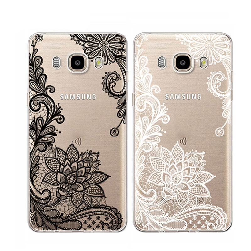 Floral Lace Vintage Flower Soft Silicone Phone Case For Samsung Galaxy J1 J3 J5 J7 A3 A5 2016 2017 S8 Plus S7 S6 Edge S5 Note 8