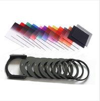 21in1 set 11 unids cuadrado gradual nd Kit de filtro de color + 9 metal Anillos + soporte de filtro para cokin p cámara de la serie