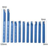 11PCS Mayitr Metal CNC Lathe Tooling Carbide Brazed Tip Tipped Cutter Turning Tools Bit Cutting Set