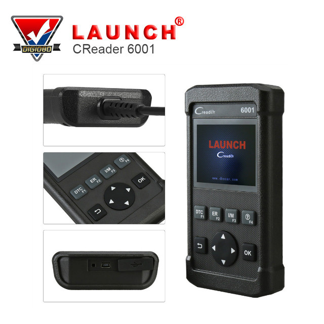 LAUNCH Full OBD2/EOBD Scanner CReader 6001 Code Reader Support Data Record and replay Car Diagnostic tool free update online