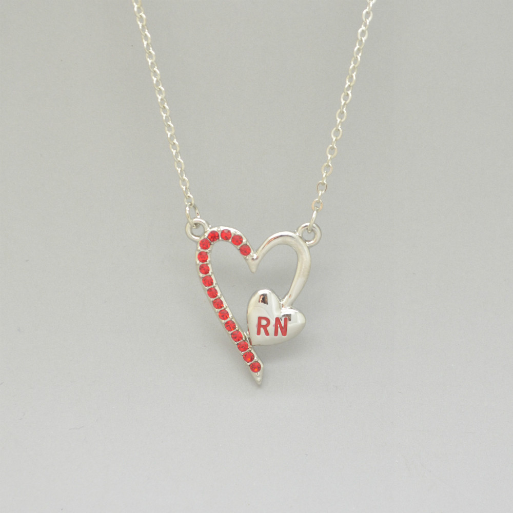 Free shipping czech crystals heart with red letters rn pendant free shipping czech crystals heart with red letters rn pendant necklace for registered nurse in pendants from jewelry accessories on aliexpress altavistaventures Gallery