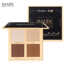 IMAGIC 4 Color Repair Contour Highlight Palette Makeup Oil Control Waterproof Long-lasting Nasal Silhouette Highlighter