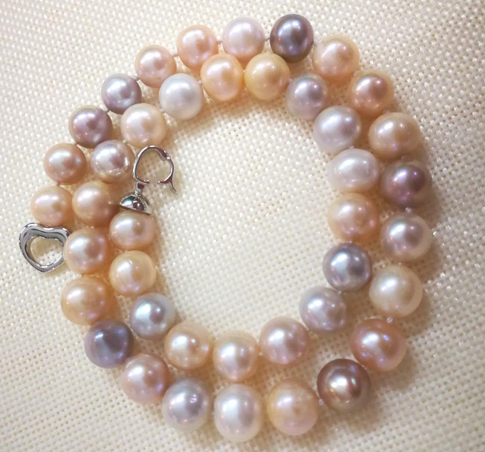 35-43cm 14-17 Woman Fashion Jewelry AAA natural pearl 11mm white pink purple Necklace real freshwater pearl35-43cm 14-17 Woman Fashion Jewelry AAA natural pearl 11mm white pink purple Necklace real freshwater pearl
