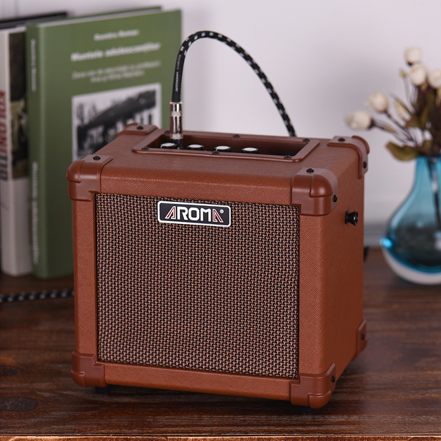 Aroma Ag 10a Acoustic Guitar Amplifier Amp Speaker 10w With