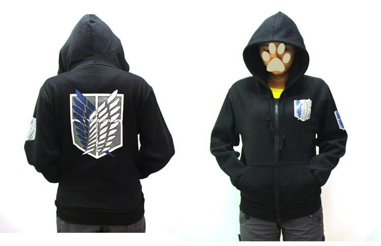 Attack on Titan Classical Black Hoody Coat Adults Autumn Tops Scouting Legion Hoody Sweatshirts