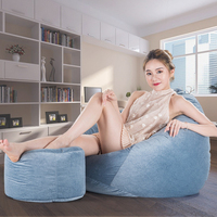 Bean Bags Cover With Ottoman Lazy Lounger Sofa Sillones Pouf Chair Chambre Bedroom Papasan Chair Relax Chair Tatame Bean Boozled