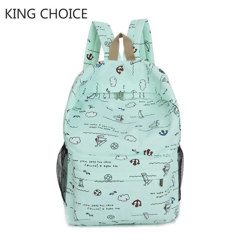 2018 Women Canvas Backpacks Ladies Shoulder School Bag Rucksack For Girls Travel Fashion Bag Casual Fashion Daypack
