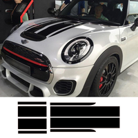 Auto Car Styling Front Bonnet Rear Stripes Hood Trunk Engine Cover Trunk Decal Car Stickers For