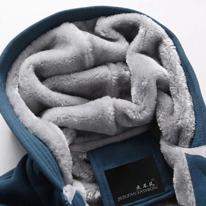 Adolescent Capuche Épais D'hiver Nouveau De Velours Hoodies Plus Avec Sweat Manteau 2019 Noir Zipper Une Hommes bleu shirt Occasionnel Cardigan Étudiant Mâle Slim Pw7x5fY