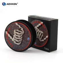 100% Authentic Advken Twisted Clapton Roll Wire Eig Vape Wire in 10FT/3M of 24g/26g/28g