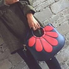 2017 mode patchwork blume farbblock handtasche weinlese allgleiches frauen handtasche casual umhängetasche