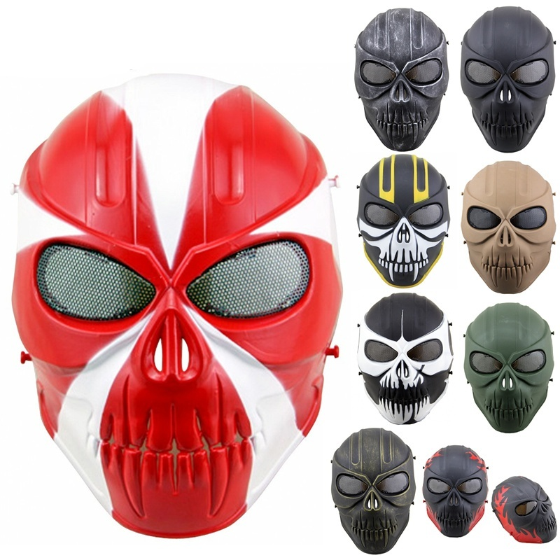 ZJZ02 Kimen Ghost Military Tactical Skull Full Face Protective Mask CS Wargame Airsoft Paintball Hunting Halloween Party Mask