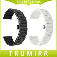 Full Ceramic Watchband 20mm 22mm Universal Watch Band Porcelain Strap Steel Butterfly Buckle Belt Wrist Bracelet