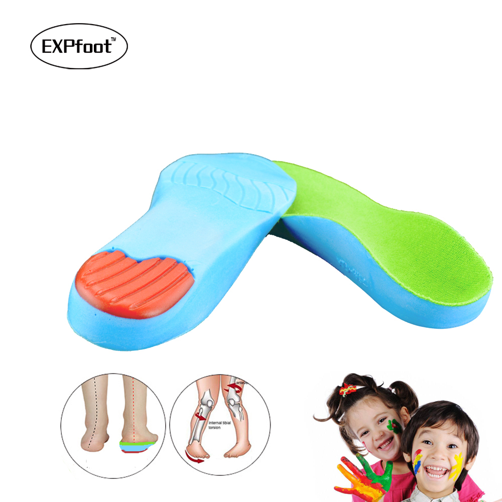 Kid's orthopedic Insoles for Children Shoes Flat Foot Arch Support Orthotic Pads Correction Health Feet Care Insole 3-18 age цена