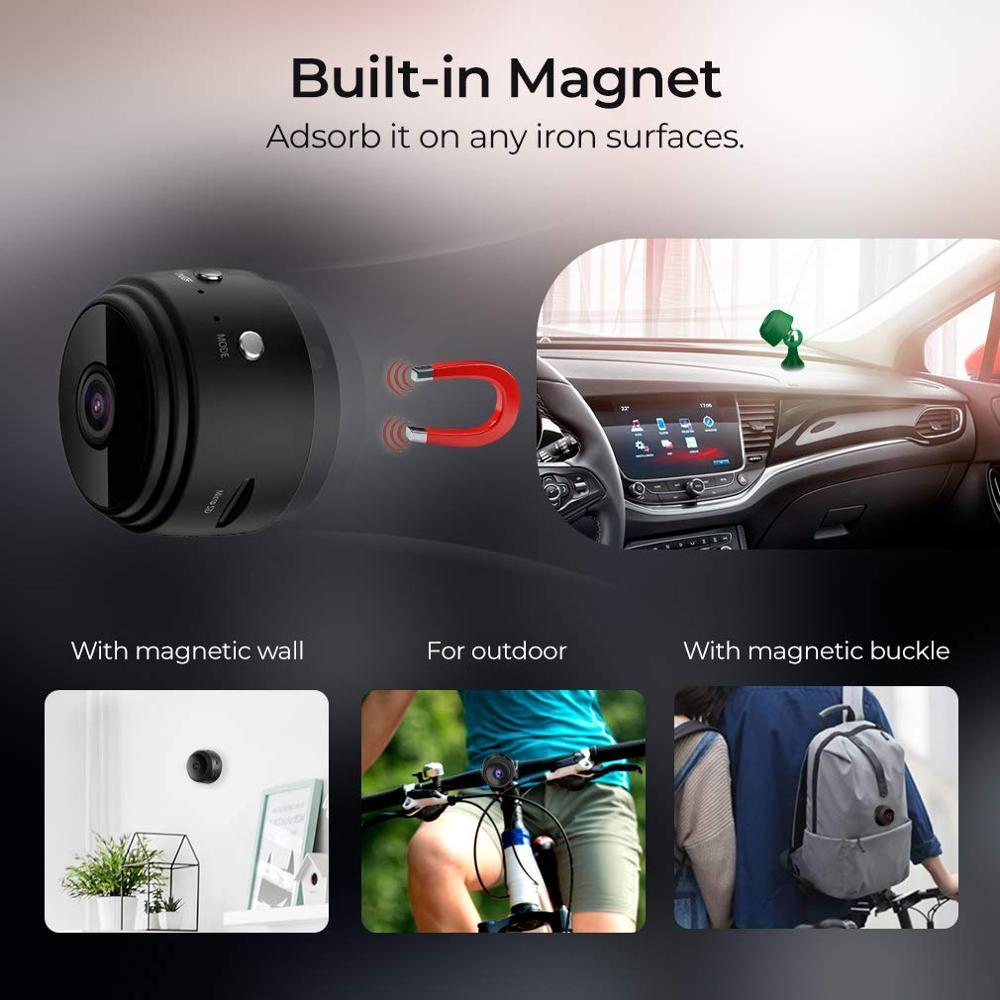 WiFi Kamera 1080P Drahtlose Tragbare Sicherheit Kamera Magnetische Kleine Hause Cam mit Bewegungs Erkennung und Nachtsicht