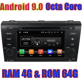 WANUSUAL Octa Core 7 Android 9.0 Car GPS Navigation For MAZDA 3 2004 2005 2006 2007 2008 2009 Autoradio Player 2 Din DVD Video image