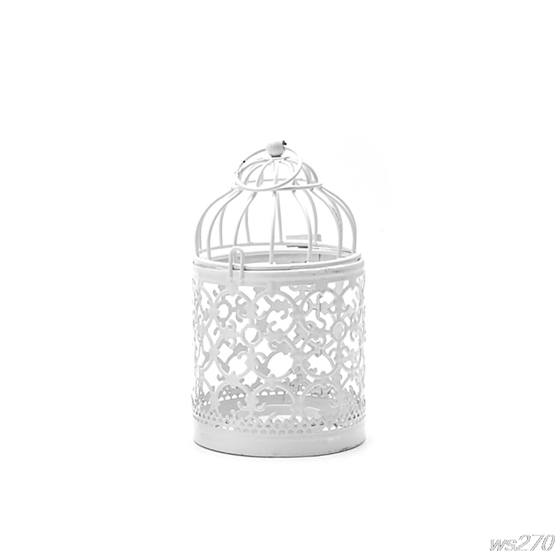 Home Decoration Hollow Holder Tealight Candlestick Hanging Lantern Bird Cage Vintage Christmas/Fairy Wedding/Party Decoration W