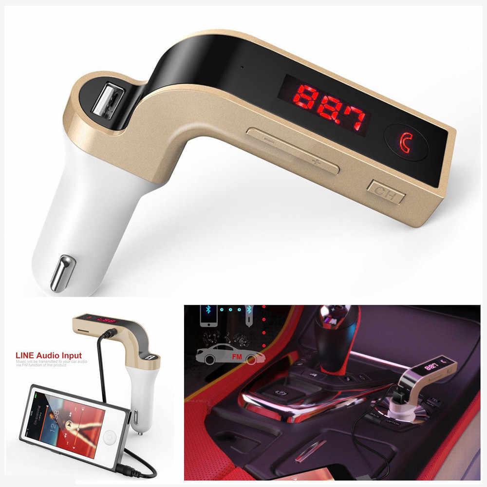 4 イン 1 ハンズフリーワイヤレス bluetooth fm トランスミッタ G7 + aux 変調器カーキット MP3 プレーヤー sd usb 液晶車アクセサリー