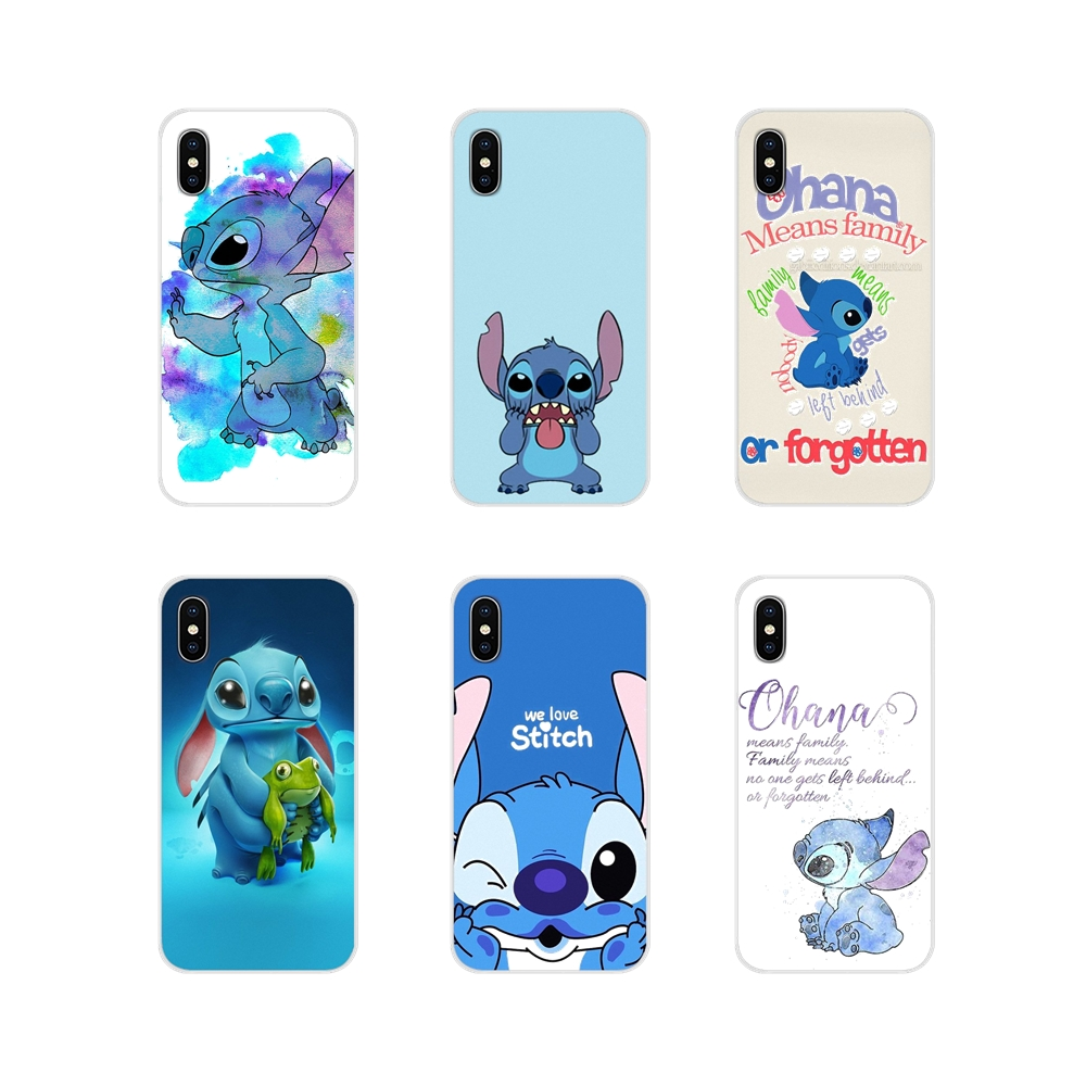 For Samsung Galaxy A5 A6S A7 A8 A9S Star J4 J6 J7 J8 Prime Plus 2018 Lilo and Stitch Quote Ohana Means Family Mobile Phone Cover