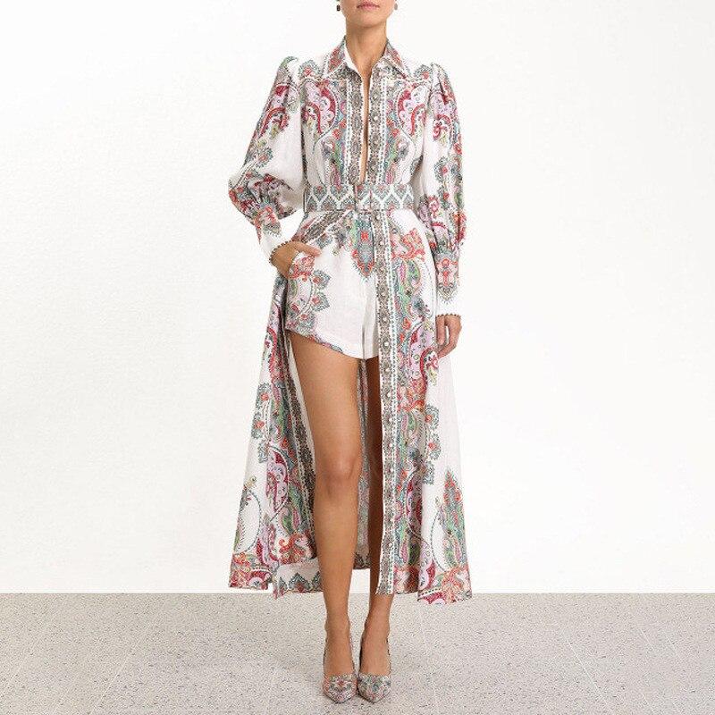 Kadın Giyim'ten Elbiseler'de 2019 Yaz Zarif Pamuk Keten Bohomina Kadınlar uzun elbise Puf Kollu Çiçek Baskı Plaj Parti Elbise yüksek kaliteli giysiler'da  Grup 1