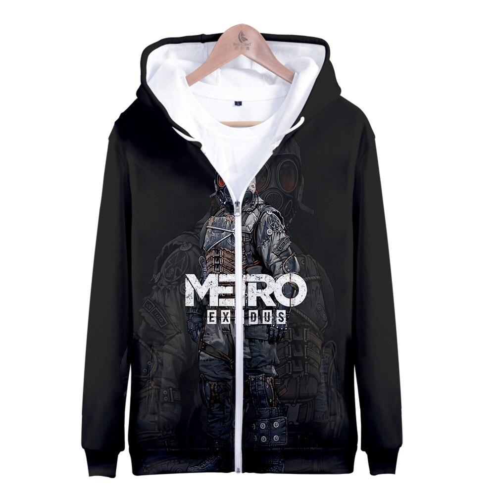 Camisolas de verão 2019 Metro 3D Êxodo LuckyFriday Zipper Moletom Harajuku Treino Solto Moletom Com Capuz Camisolas Dos Homens/Mulheres