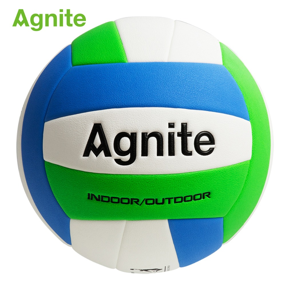Agnite 2018 official beach volleyball soft PU EVA Fitness ball of sports volleybal F1252 outdoor training