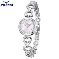2016 PREMA Womens Watches Top Brand Quartz Watch Women Dress 5 Colors Small Dial Bracelet Watch