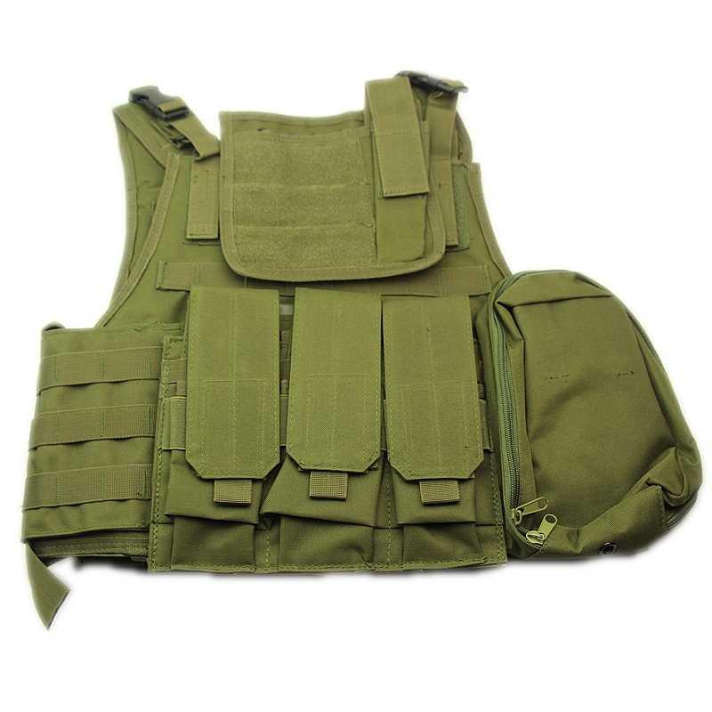 Swat تان الأسود الأخضر التكتيكية الادسنس الصدرية متعددة حدبة التمويه ملابس الصيد التدريب رخوة لوحة الناقل الصدرية مجموعة