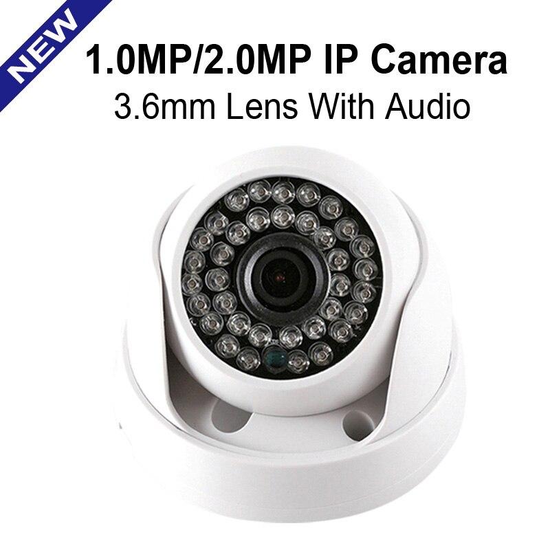imágenes para CMOS HD 720 P 1080 P Cámara IP de Audio Opcional IR 20 M Visión Nocturna 3.6mm Lente 1MP 2.0MP Seguridad CCTV Cámara de Vigilancia de Interior