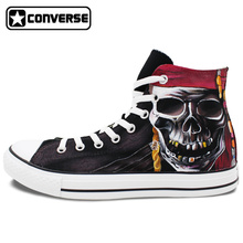 Skull Pirate Original Design Converse All Star Hand Painted Shoes Custom High Top Canvas Sneakers Man Woman Christmas Gifts