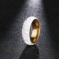 DOTIFI 316L кольца из нержавеющей стали для женщин полный размер 5 рядов прозрачный кристалл обручальное кольцо ювелирные изделия