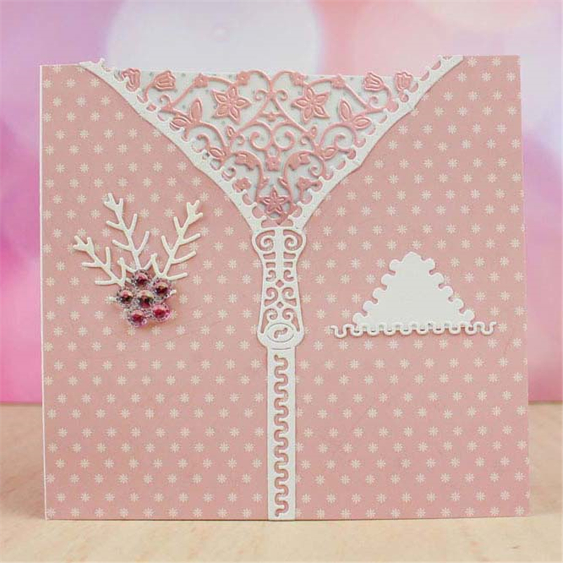 Zip Cloth Metal Cutting Dies for Scrapbooking New 2019 Craft Die Cuts Card Making New 2019 Embossing DIY in Cutting Dies from Home Garden