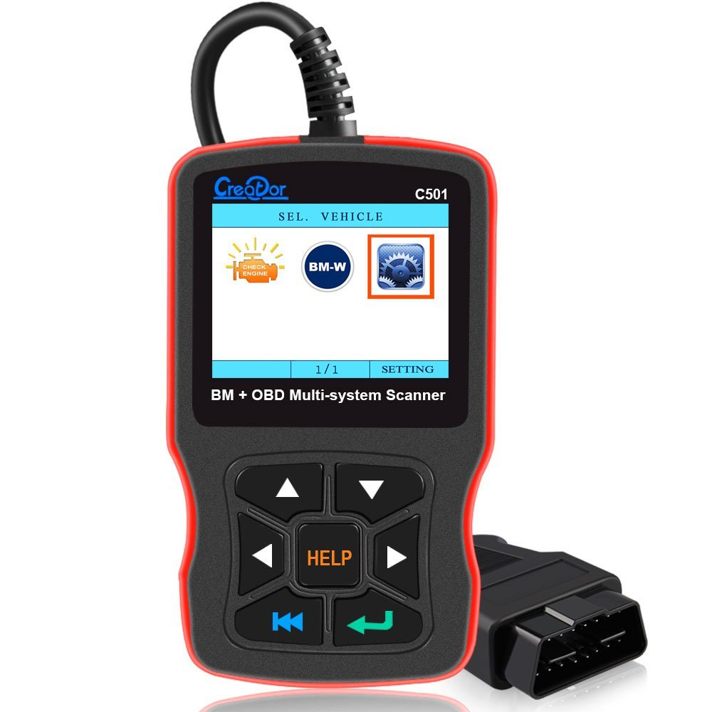 Creator C501 OBD 2 Car Diagnostic for BMW e46 e39 e90 e60 Diagnostic Scanner Code Reader AC EPS Oil Service Reset EPB ABS AirbagCreator C501 OBD 2 Car Diagnostic for BMW e46 e39 e90 e60 Diagnostic Scanner Code Reader AC EPS Oil Service Reset EPB ABS Airbag