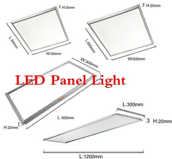 6PCS/Lot AC90-260V ultra thin flat led panel light 600x600 300x300 300x600 18W 30W 48W office down light image