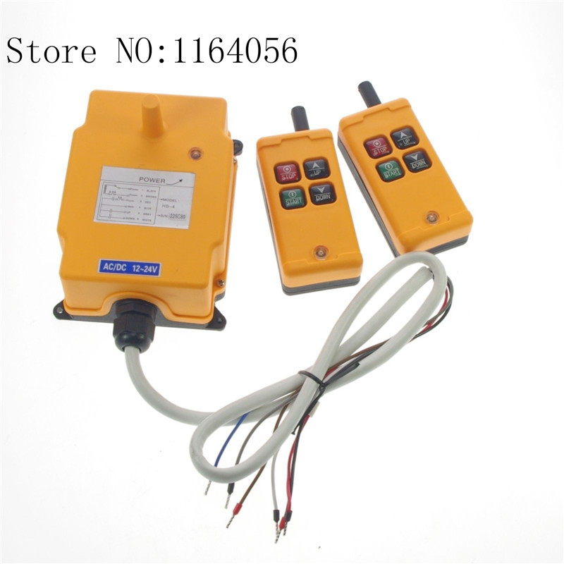 AC110V 2 Tansmitters 4 Channels 1 Speed Control Hoist Crane Radio Remote HS-4AC110V 2 Tansmitters 4 Channels 1 Speed Control Hoist Crane Radio Remote HS-4