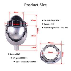 Image 4 - Sanvi 3 סנטימטרים אוטומטי Bi LED מקרן עדשת פנס 35W 5000K LED אוטומטי פנס אופנוע פנס