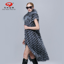 2016 Autumn new arrival best seller Fashion style font b coat b font real silver fox