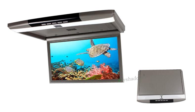 "Perfect Stylish 17.3"" / 15.6"" Color TFT LCD Display 12V~24V Roof Mount Car Monitor Flip Down Car Monitor Player HD 1080P HDMI USB SD FM 9"