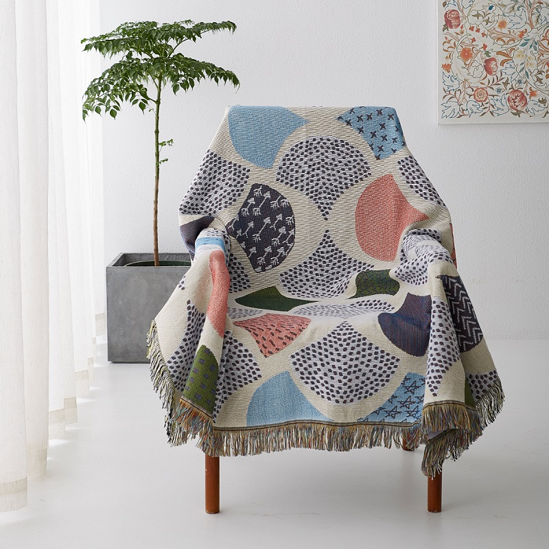 Ginkgo Leaves Knit Chair Sofa Throw Covers Sofa Towel Blanket Leaf Couch Carpet Travel Plaids Bedding Sofa Cover Tapestry YMTB34
