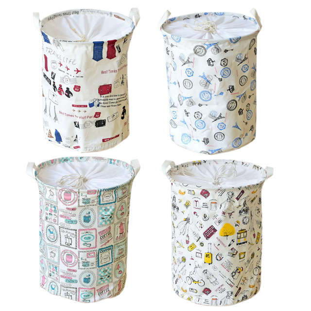Fabric Laundry Basket Storage For Toys Folding Baby Clothes Dirty