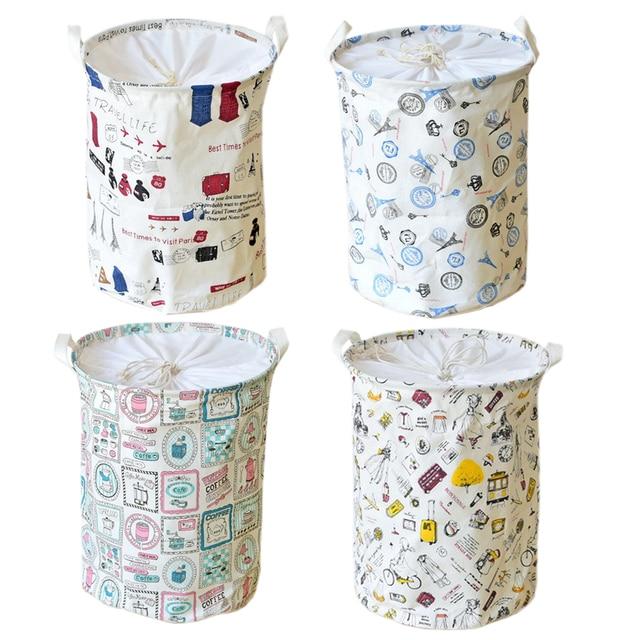 Fabric Laundry Basket Storage Basket For Toys Folding Baby Clothes